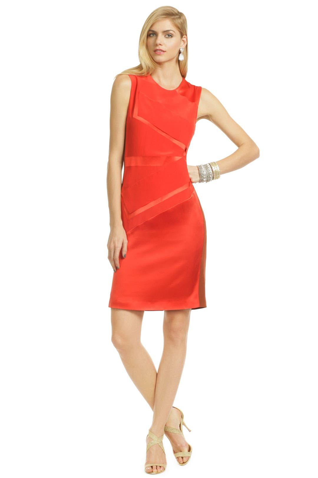 Construction Zone Sheath by Narciso Rodriguez