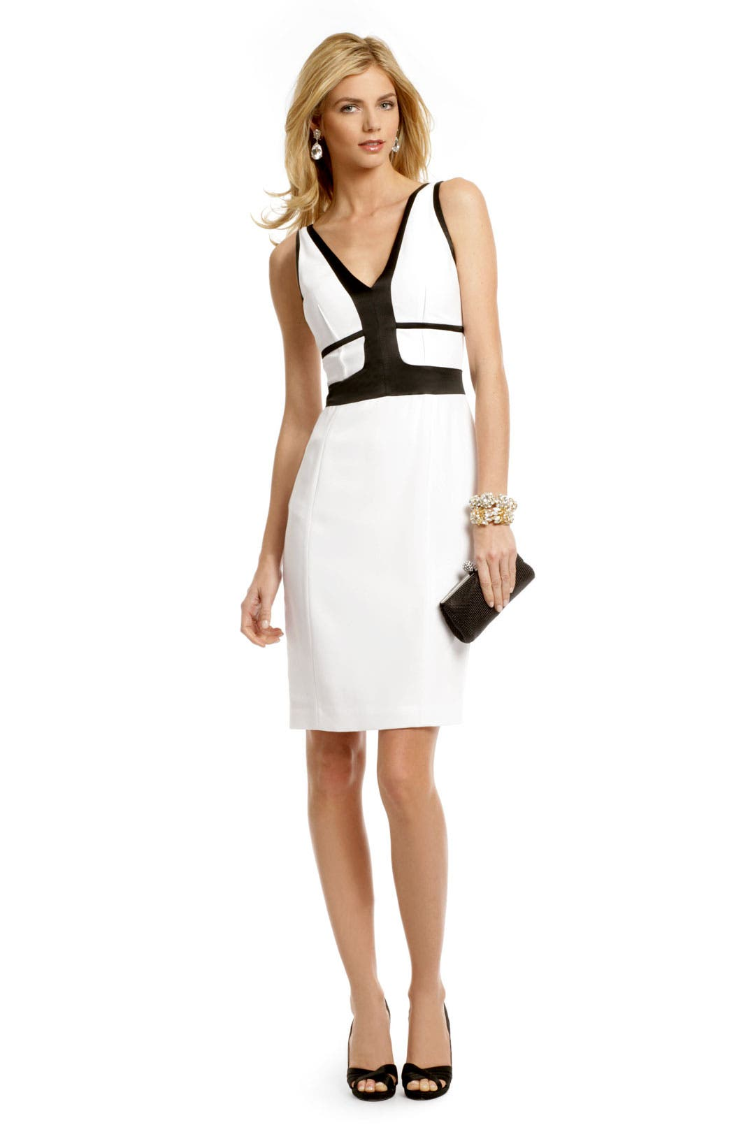 Ivory Contrast Dress by Narciso Rodriguez