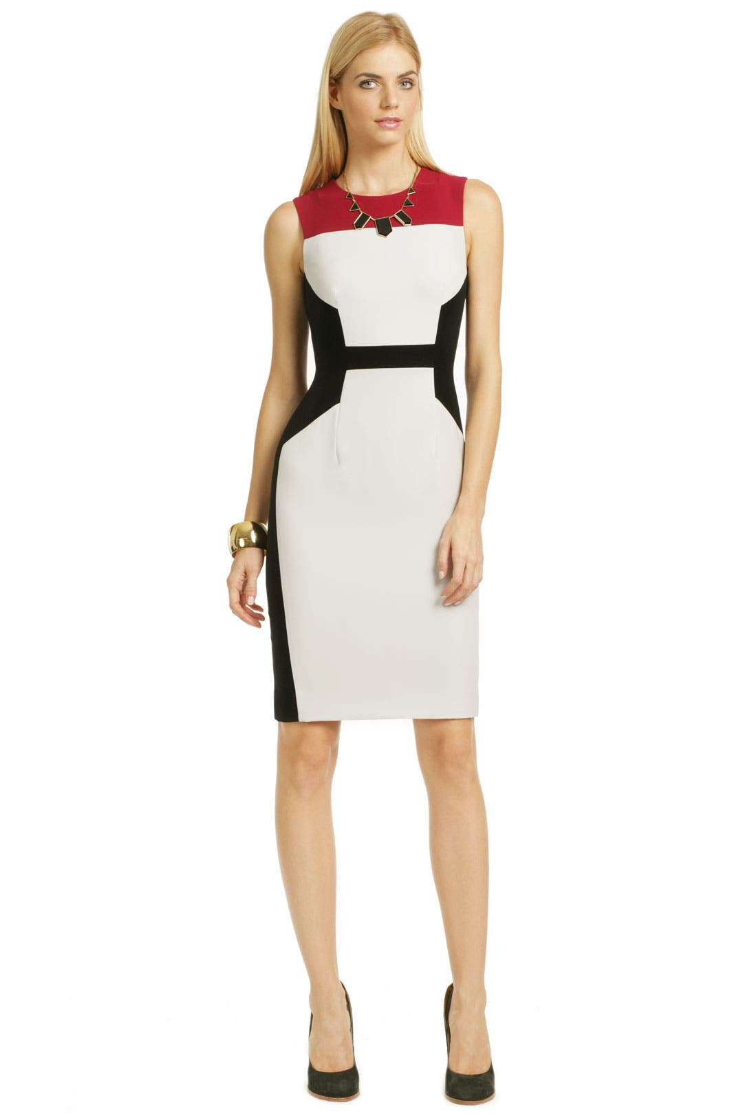 Key Pattern Sheath by Narciso Rodriguez