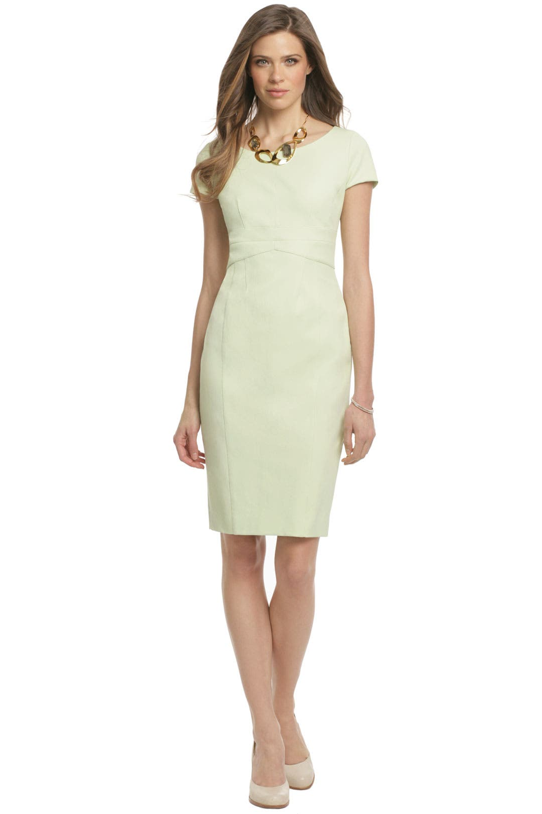 Lime Sorbet Sheath by Narciso Rodriguez
