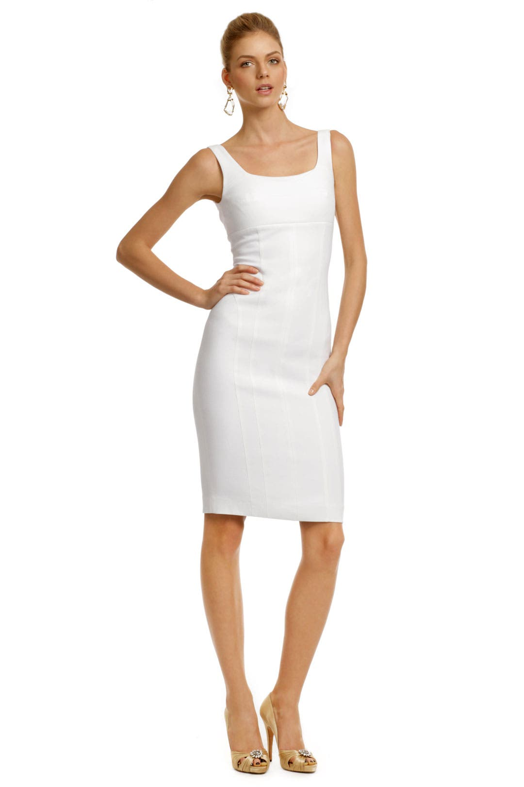 White Cross Back Dress by Narciso Rodriguez