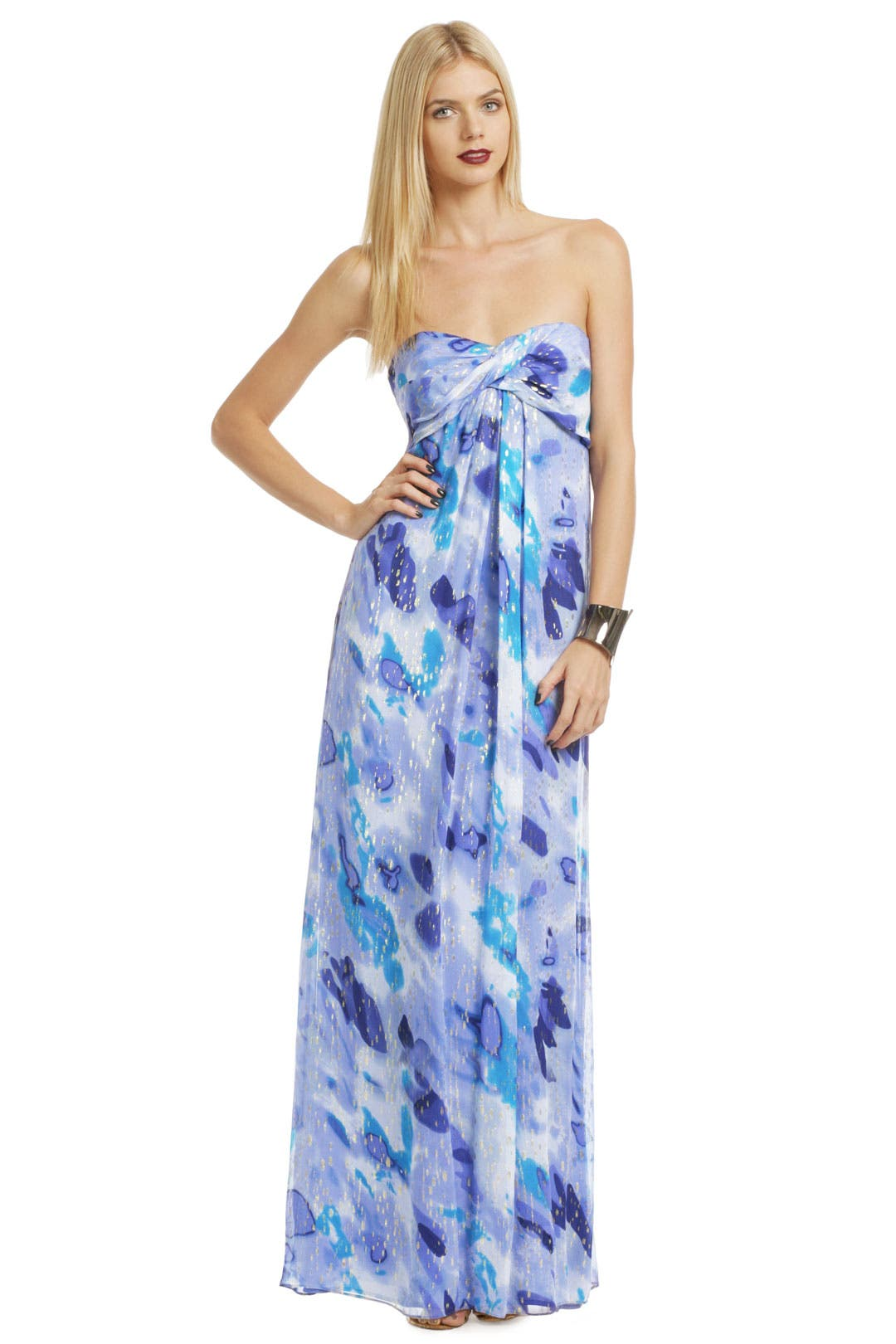 Blue Water Sunset Gown by Nicole Miller