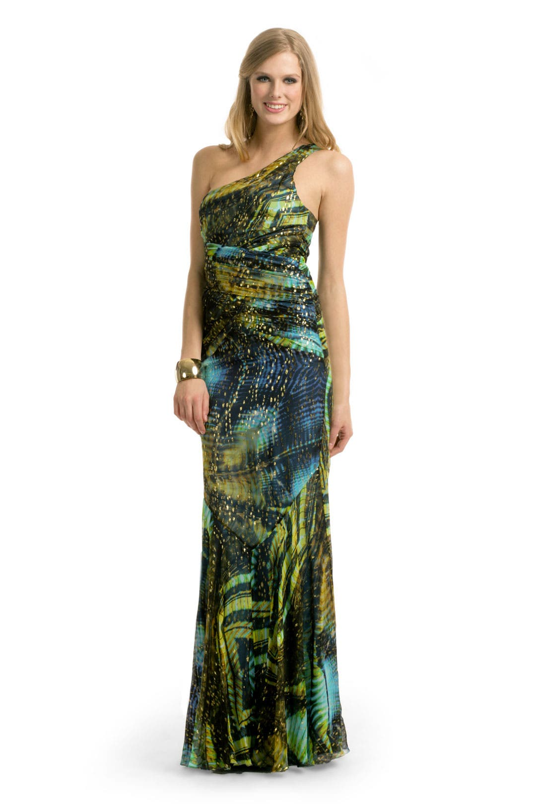Lurex Print Gown by Nicole Miller
