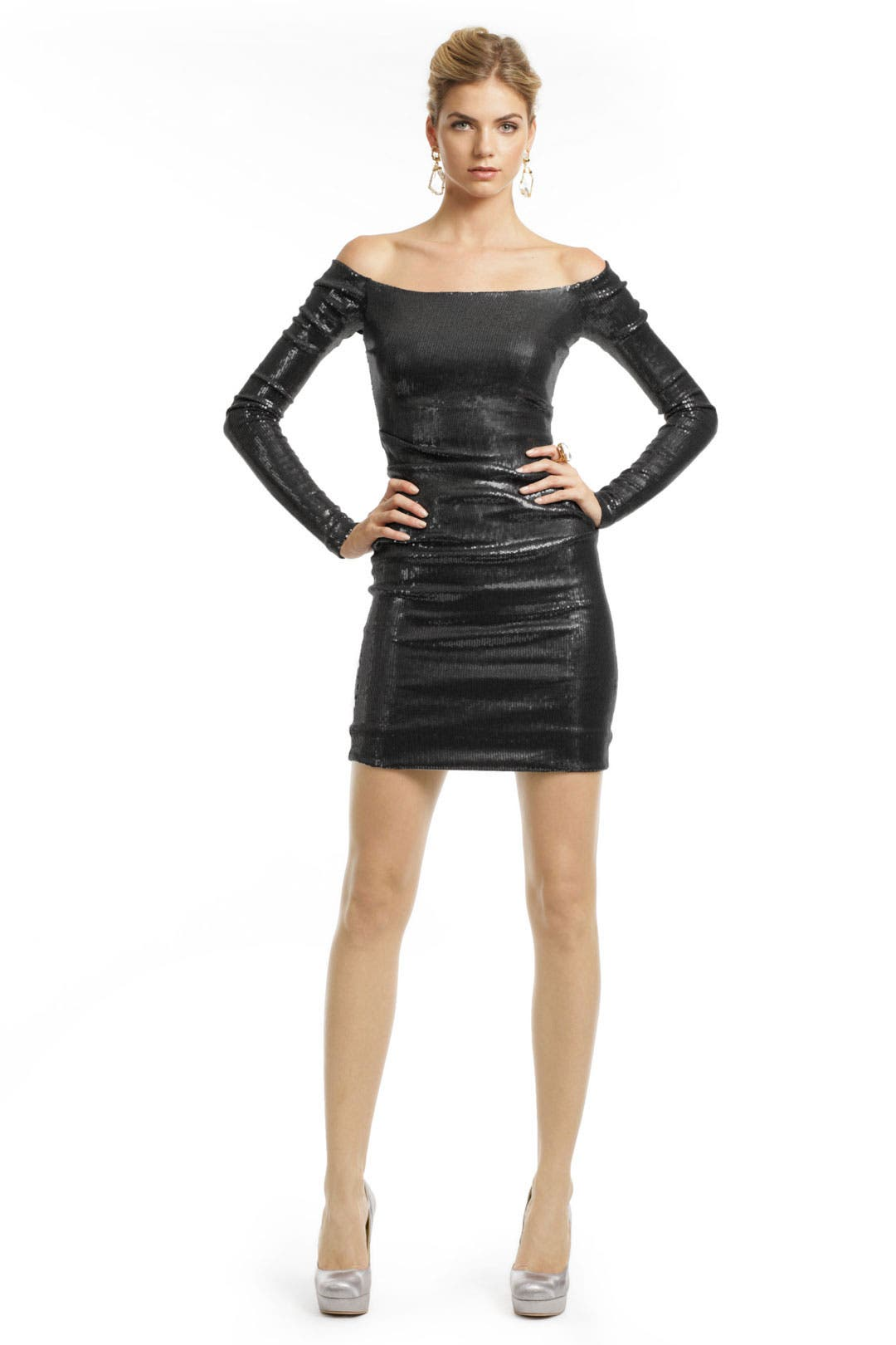 Nirvana Sequin Sheath Dress by Nicole Miller