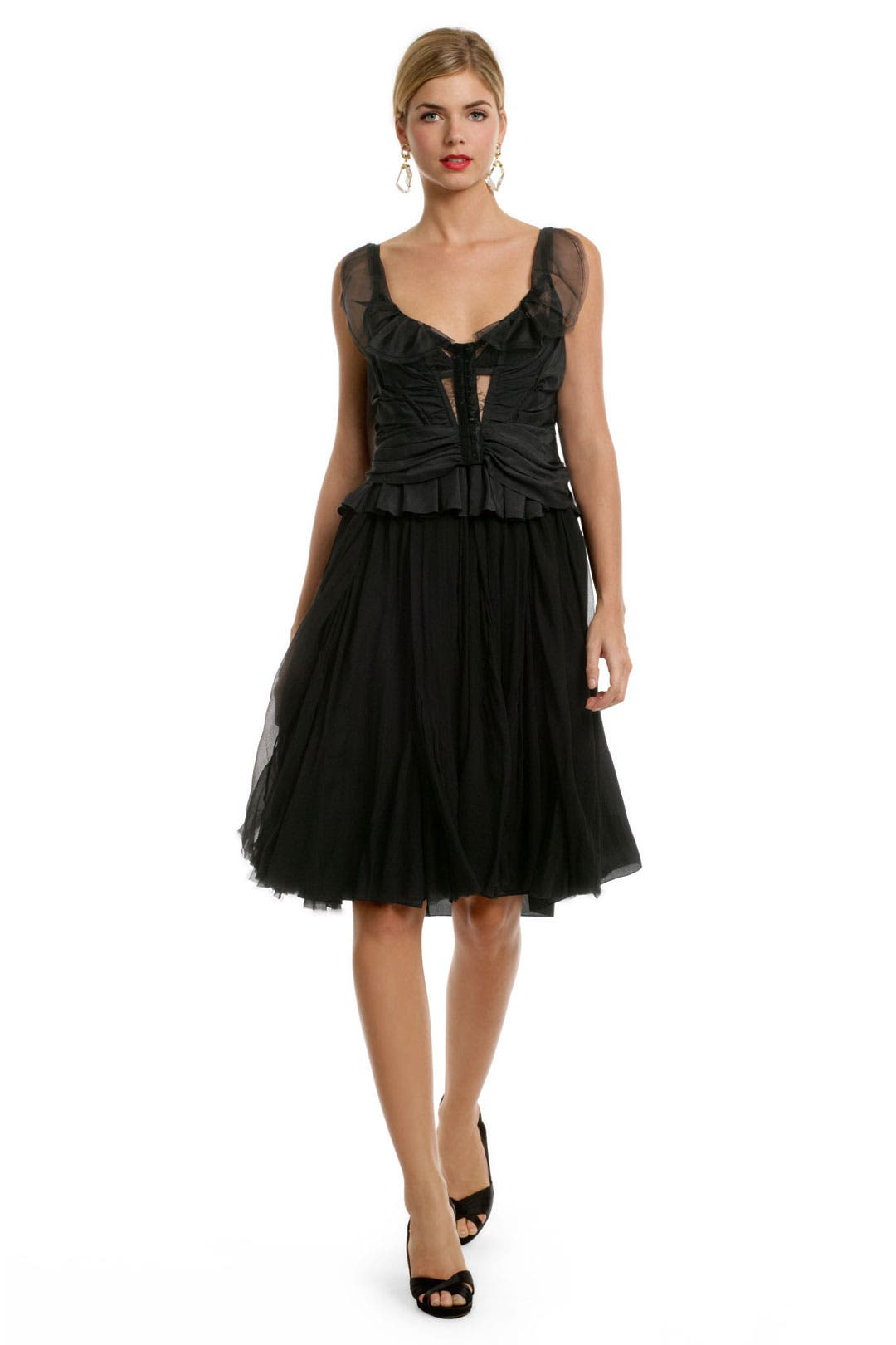 Seductive Corset Lace Dress by Nina Ricci