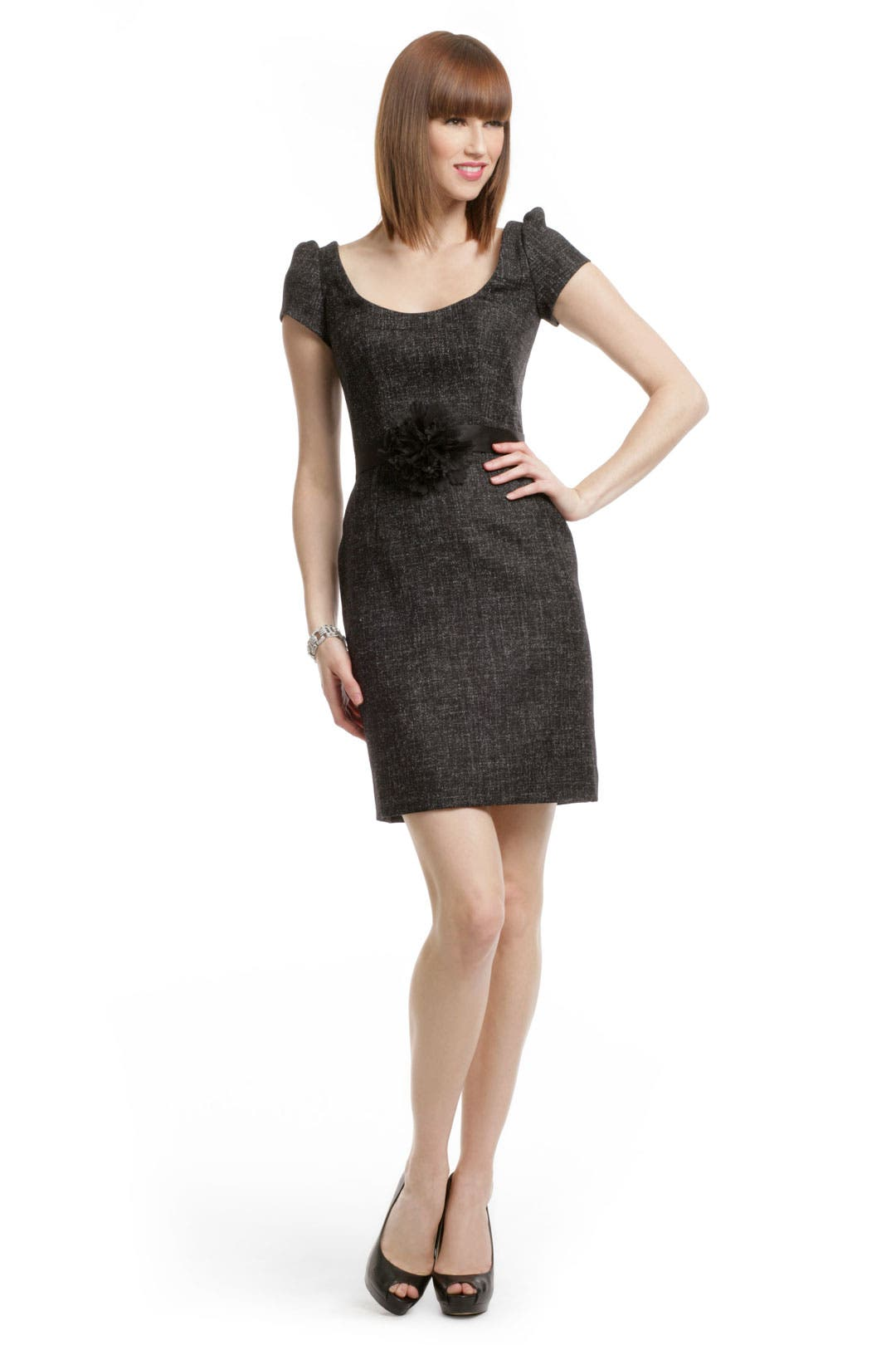 Black Tweed Sheath by Peter Soronen