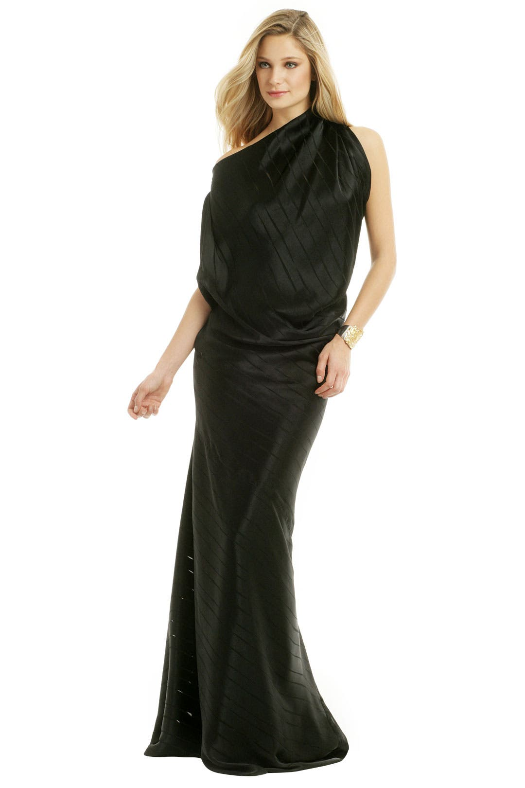 Drape It Diagonal Gown by Plein Sud