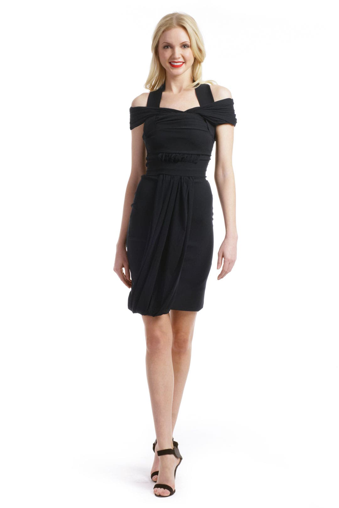 Open Back Black Dress by Preen