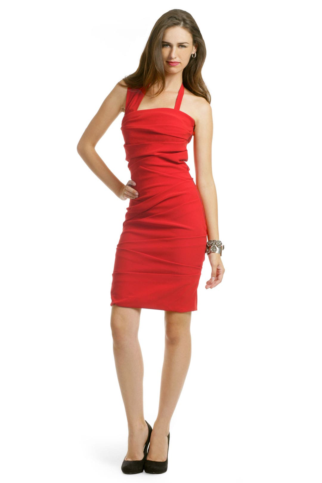 Red Sandstorm Dress by Preen