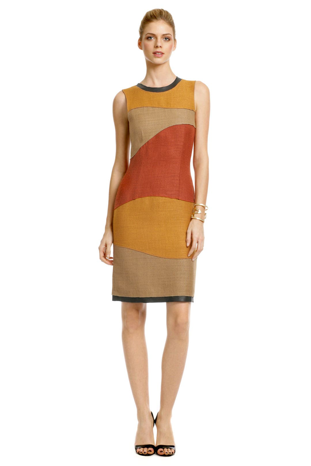 Patchwork Swirl Sheath by Proenza Schouler