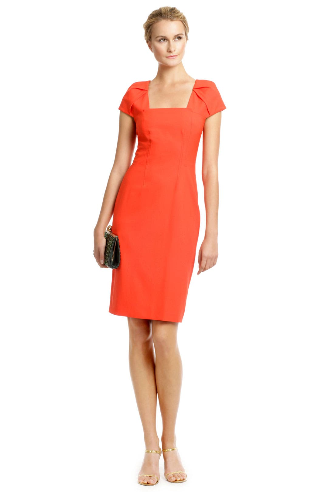 Coral Origami Sheath by Rachel Roy