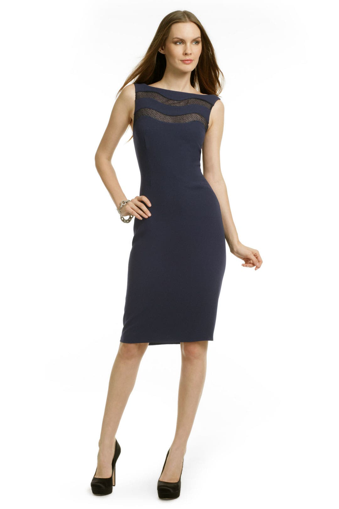 Lace Wave Sheath by Rachel Roy