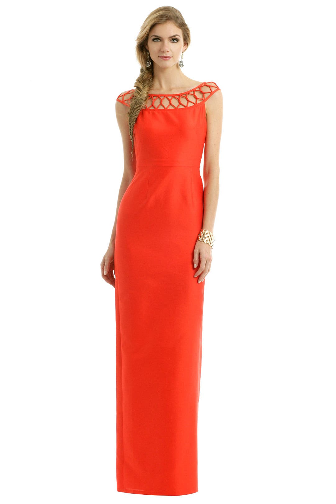 Citrus Cherry Twist Gown by Raoul