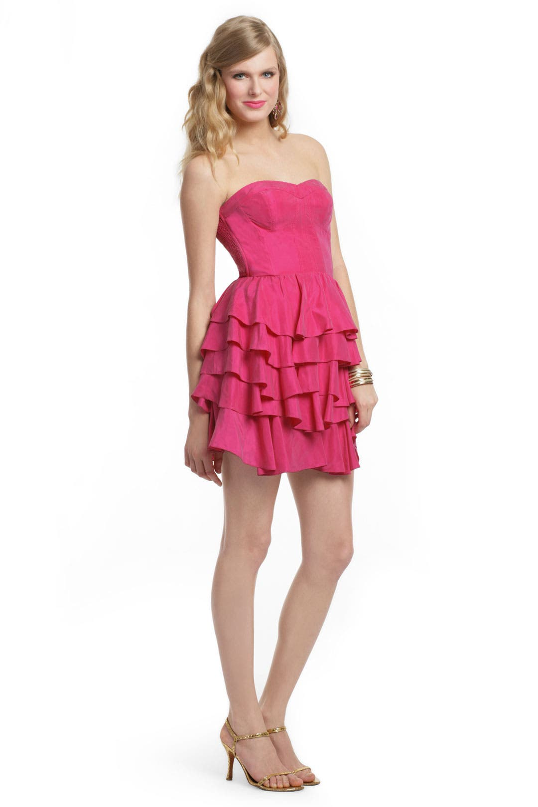 Raspberry Layer Cake Dress by Rebecca Taylor