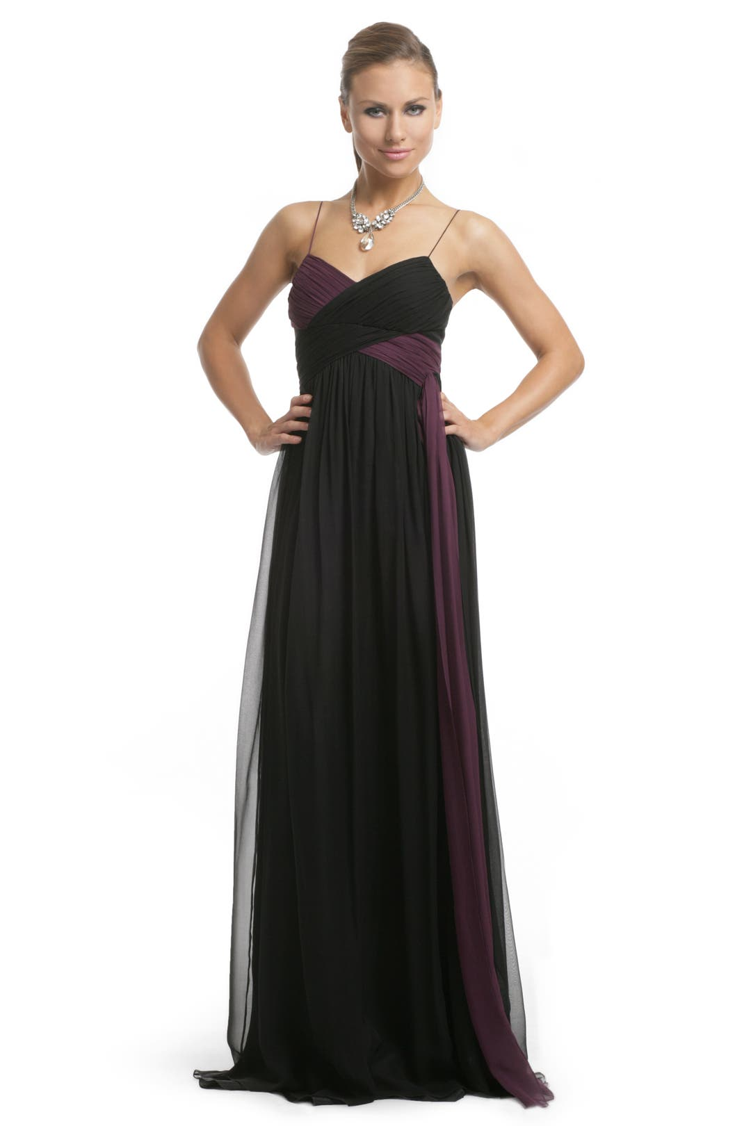Bicolor Twist Gown by Robert Rodriguez Black Label