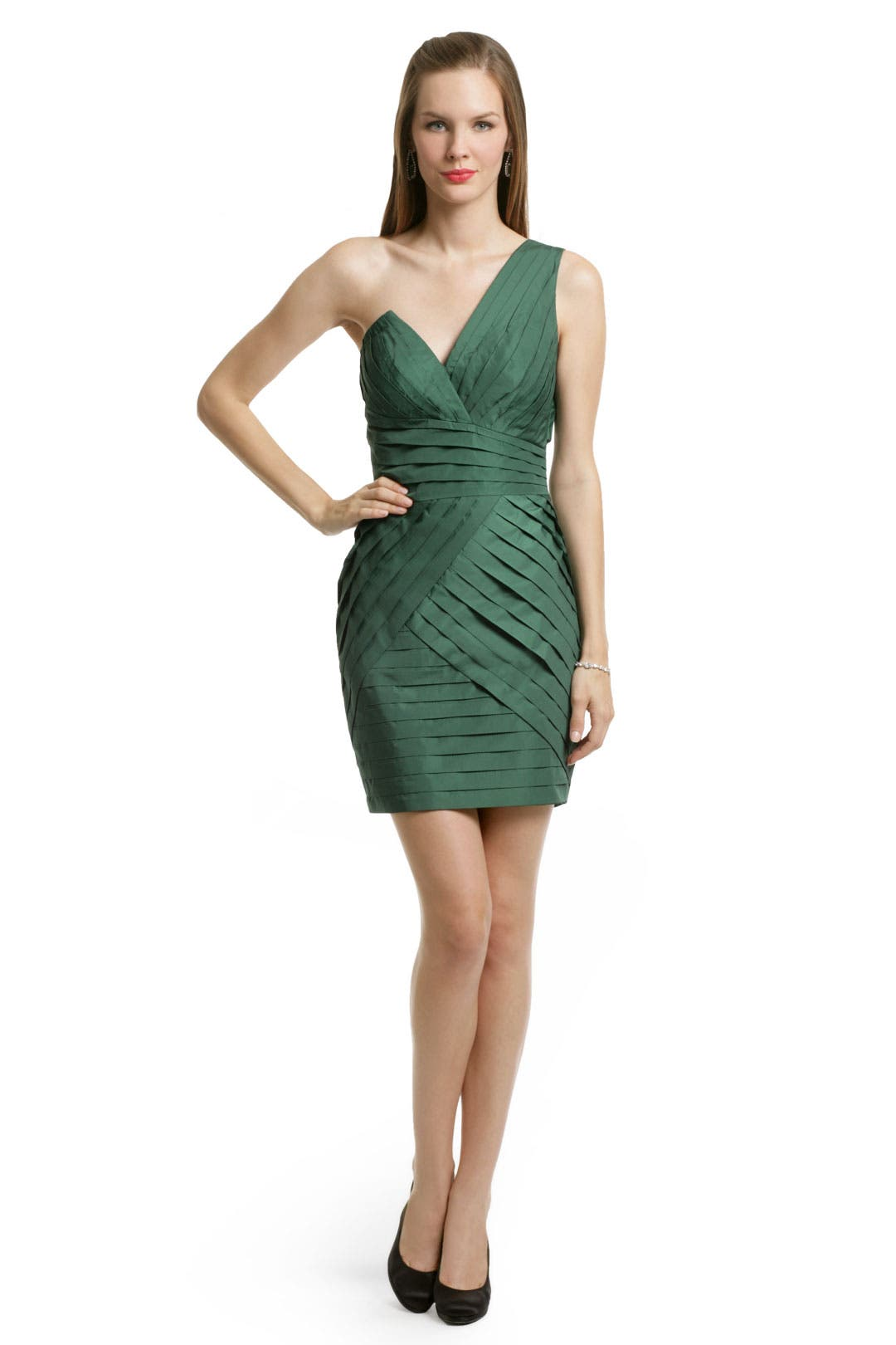 Evergreen Pleated Dress by Robert Rodriguez Black Label