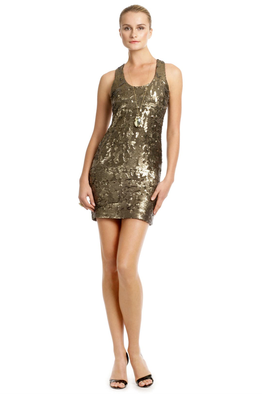 Golden Tank Dress by Robert Rodriguez Collection
