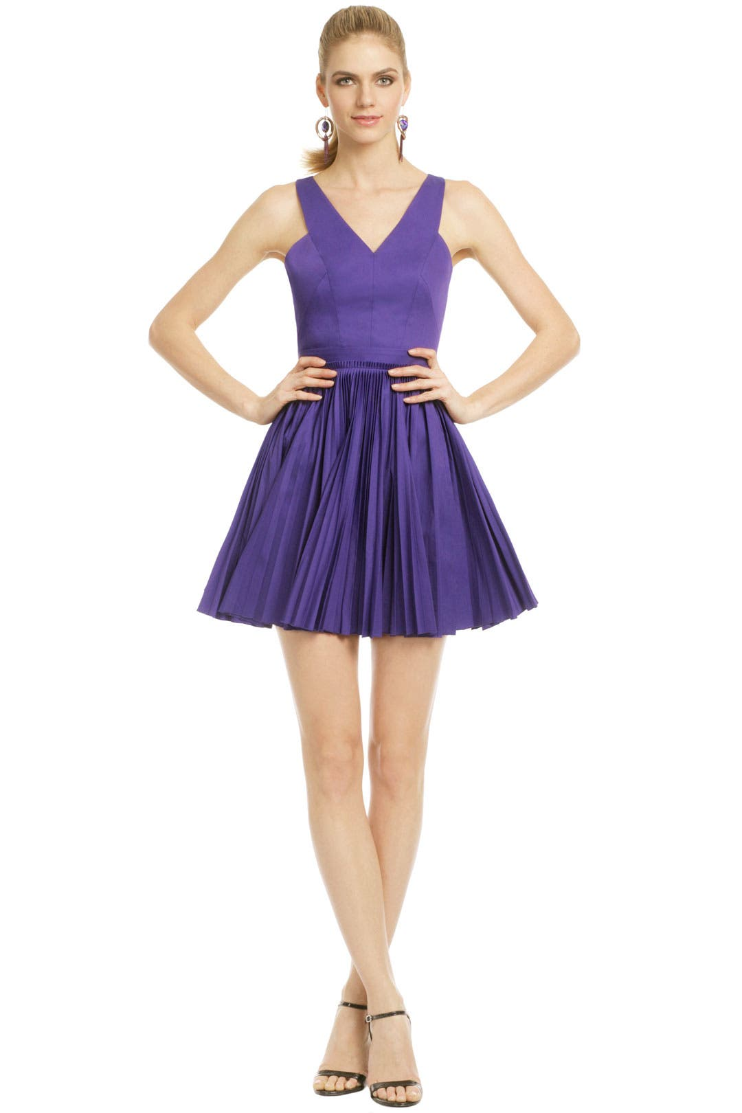 Pleased Pleat Dress by Robert Rodriguez Collection