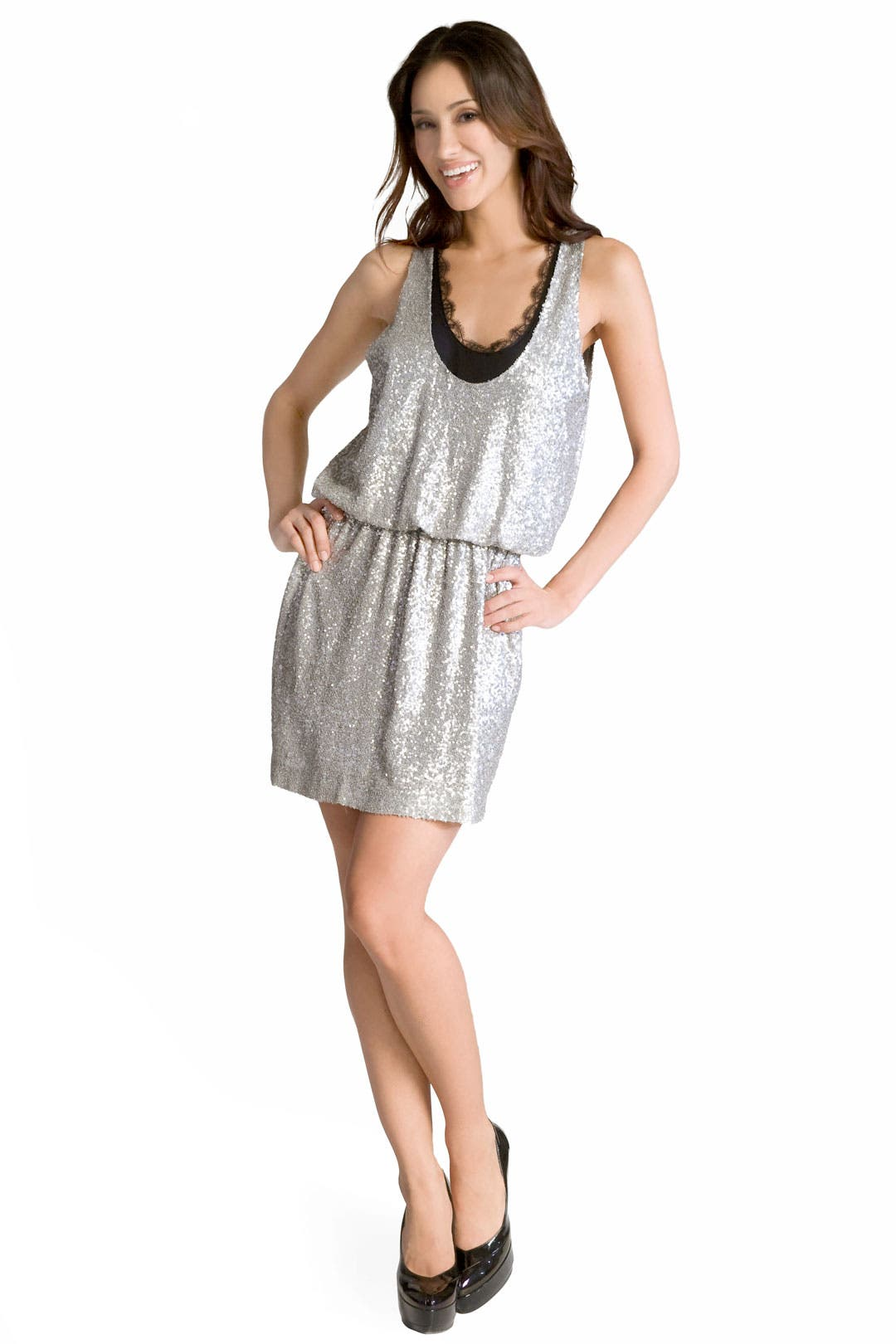 Sparkling Lace Dress by Robert Rodriguez Collection