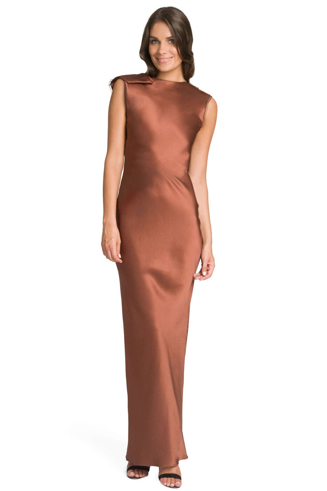 Copper Satin Gown by Roksanda Ilincic
