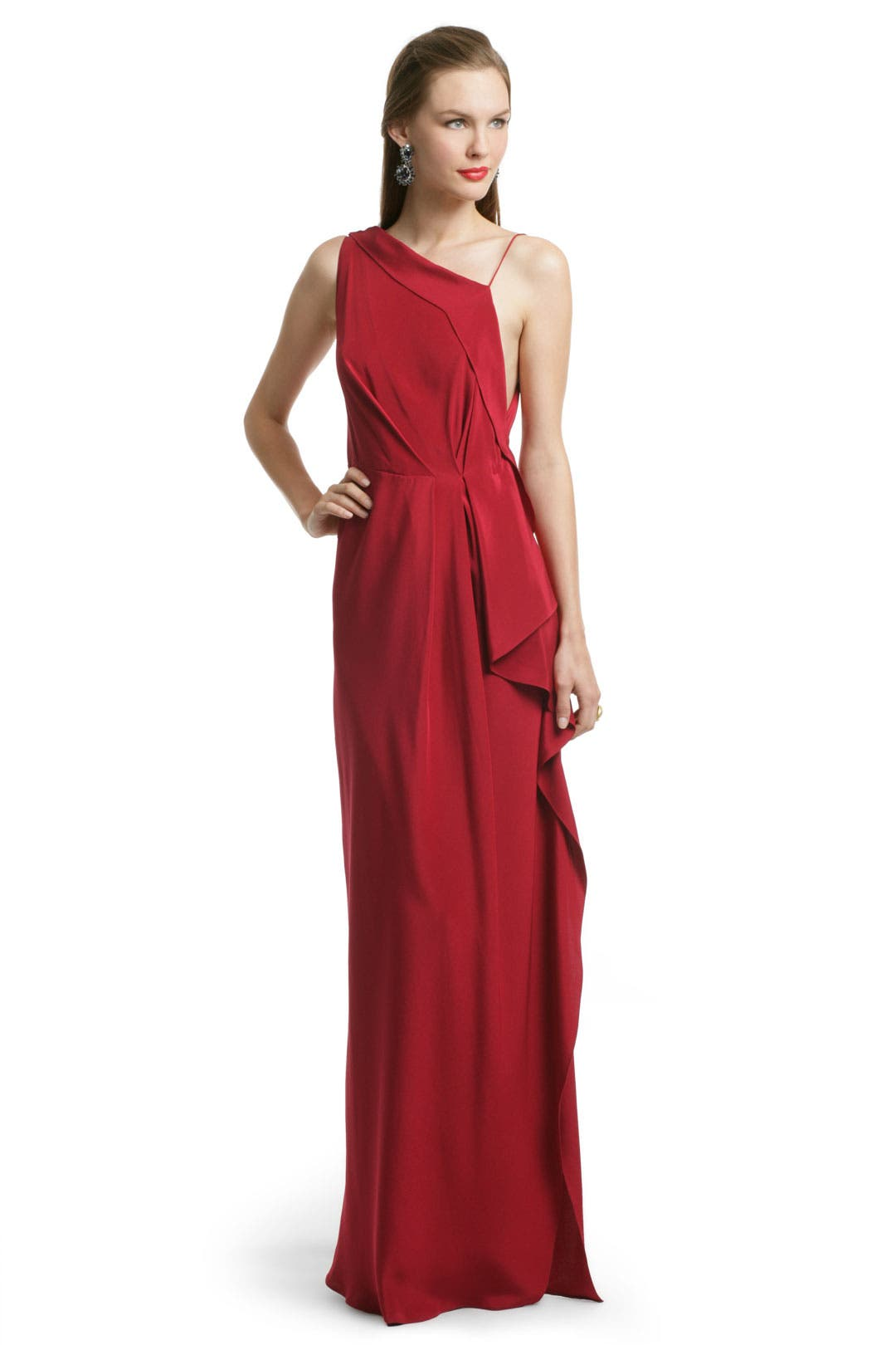 Red Moroccan Draped Gown by Roksanda Ilincic