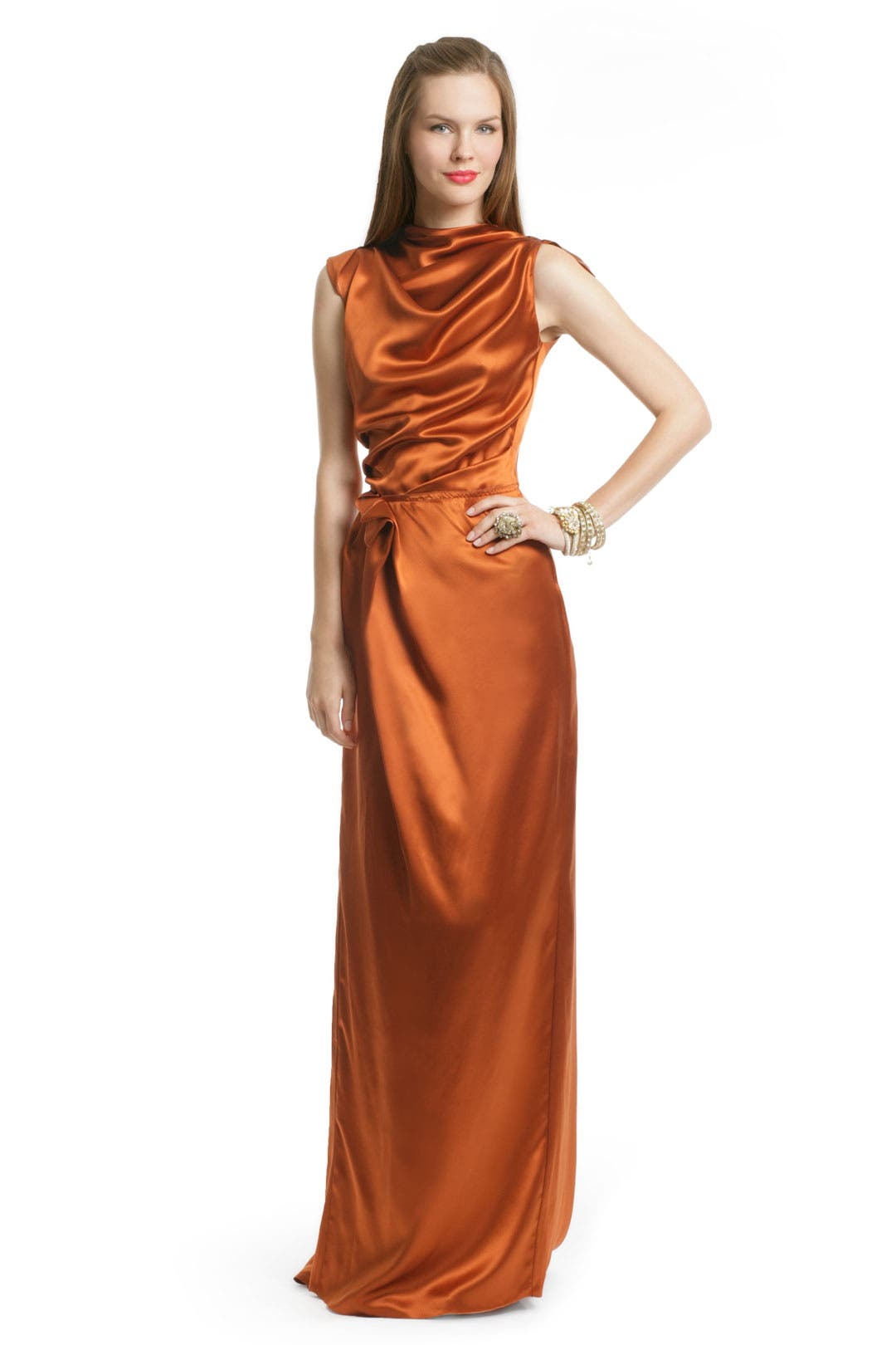 Rust Draped Gown by Roksanda Ilincic