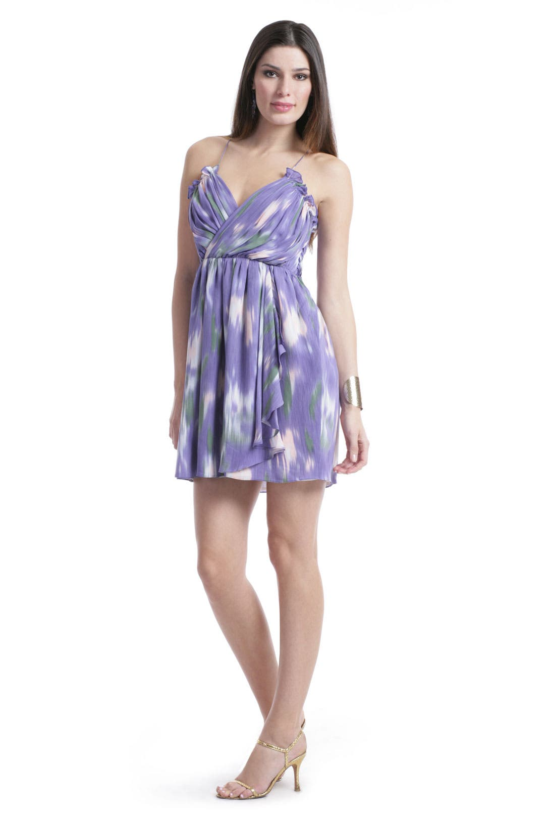 Purple Watercolor Dress by Shoshanna