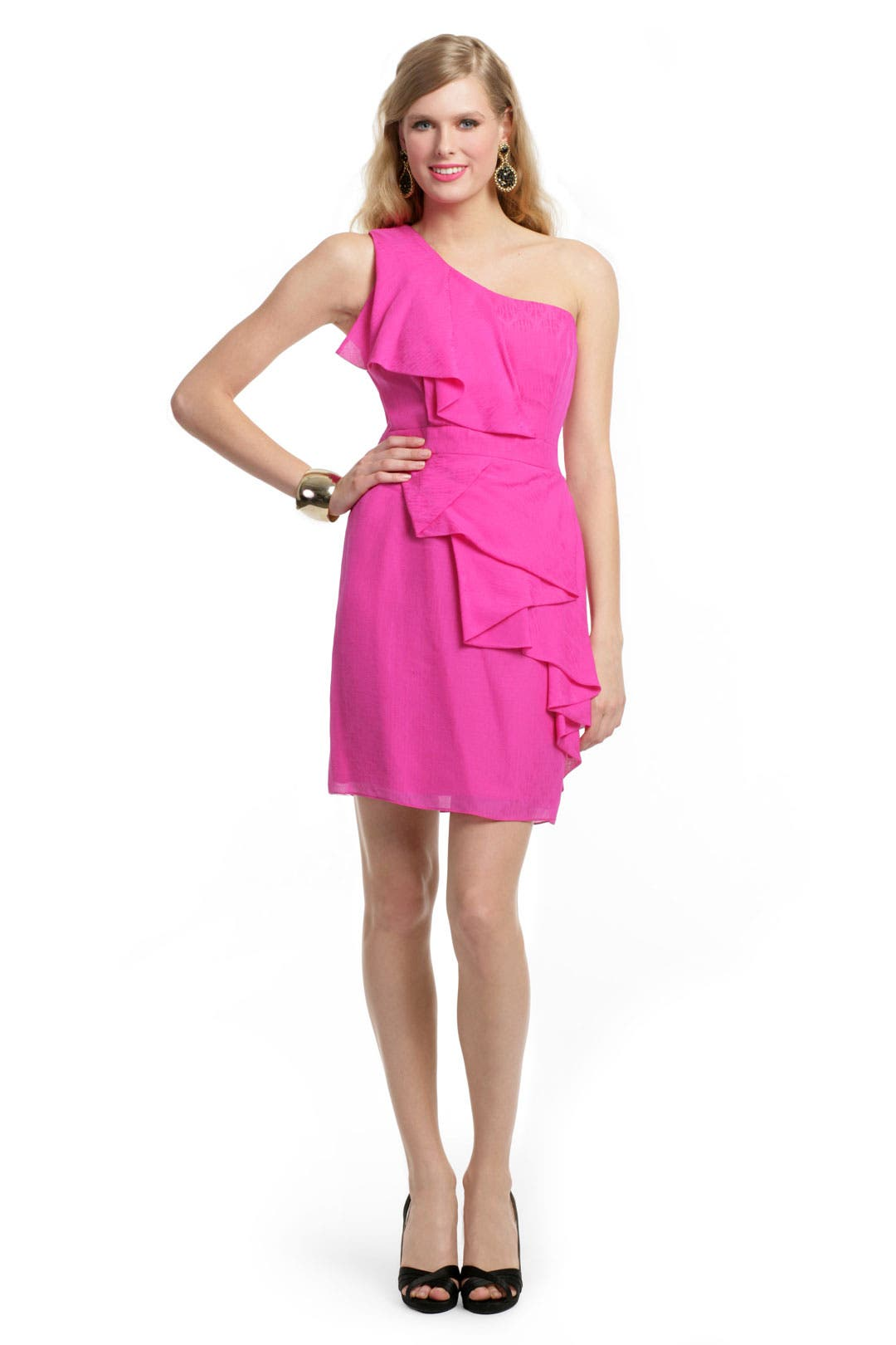 You Flirt in Fuchsia Dress by Shoshanna