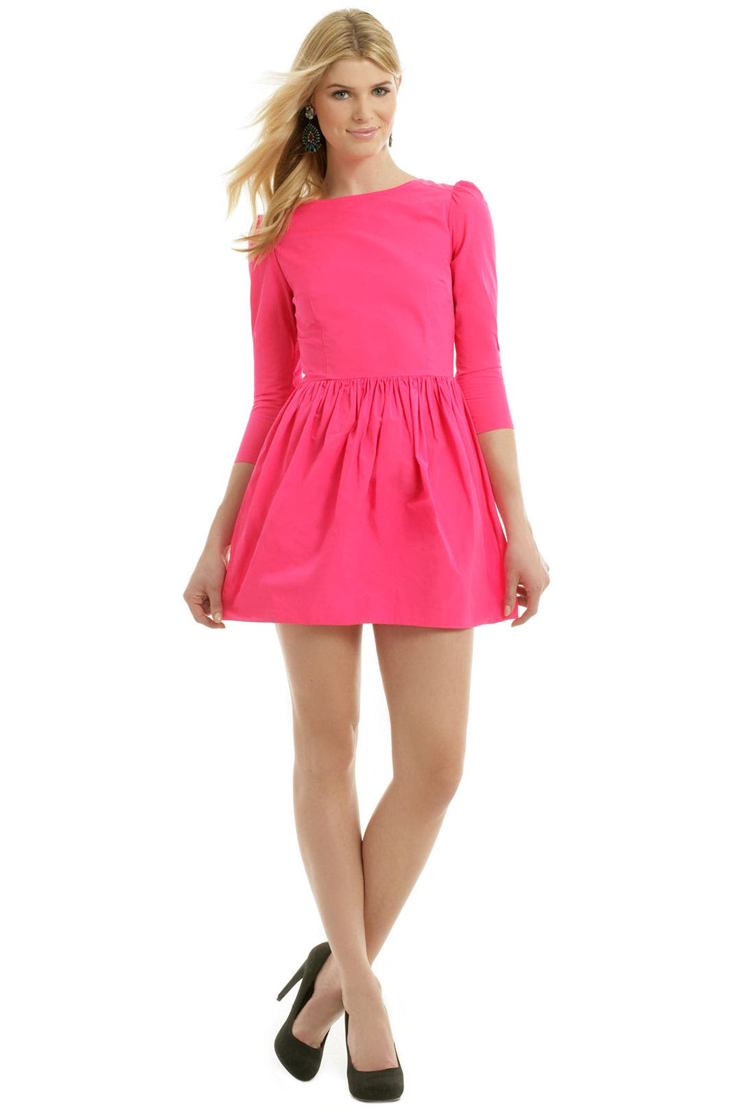 Electro Pink Explosion Dress by Suno