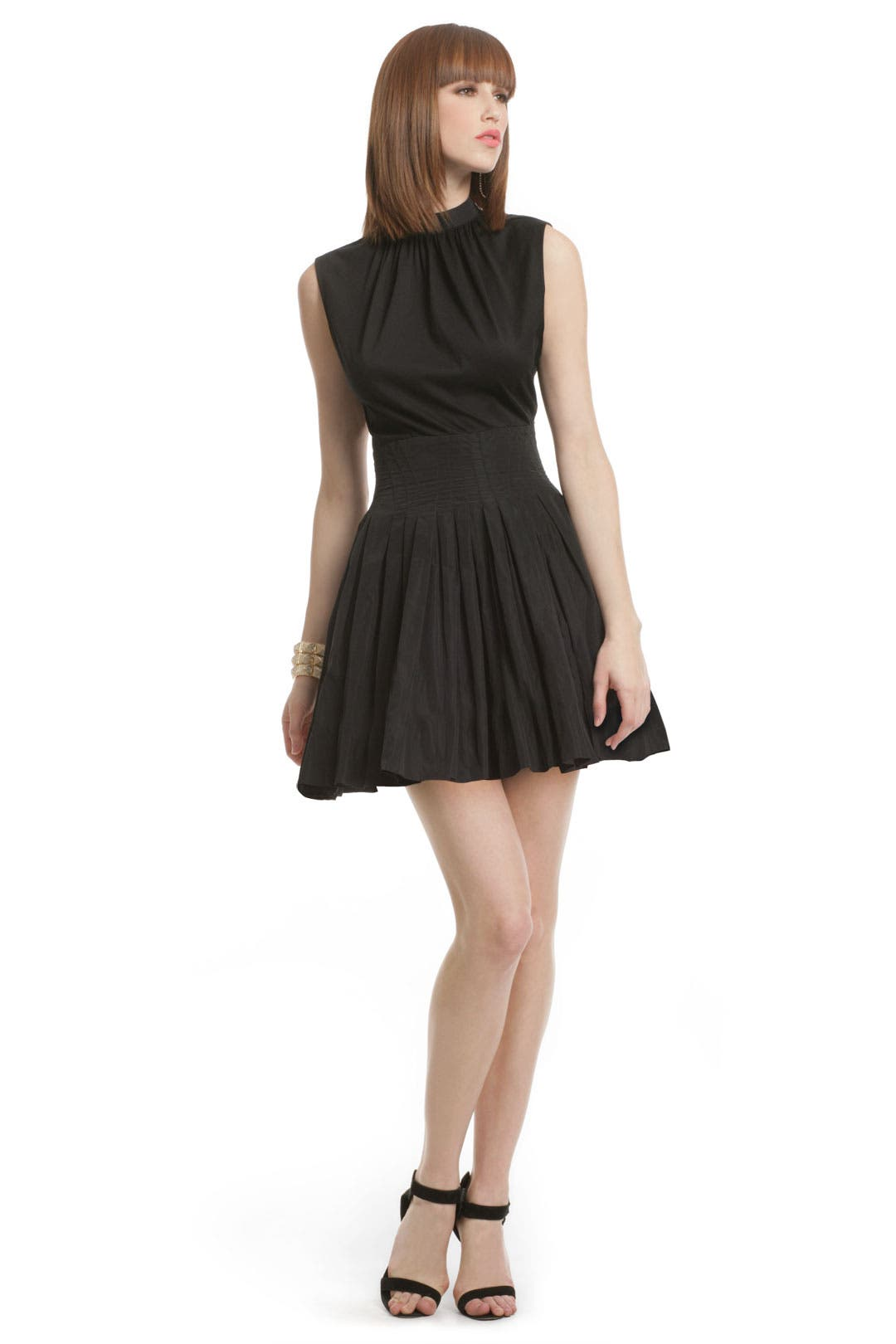 Black Bodice Taffeta Dress by Thakoon