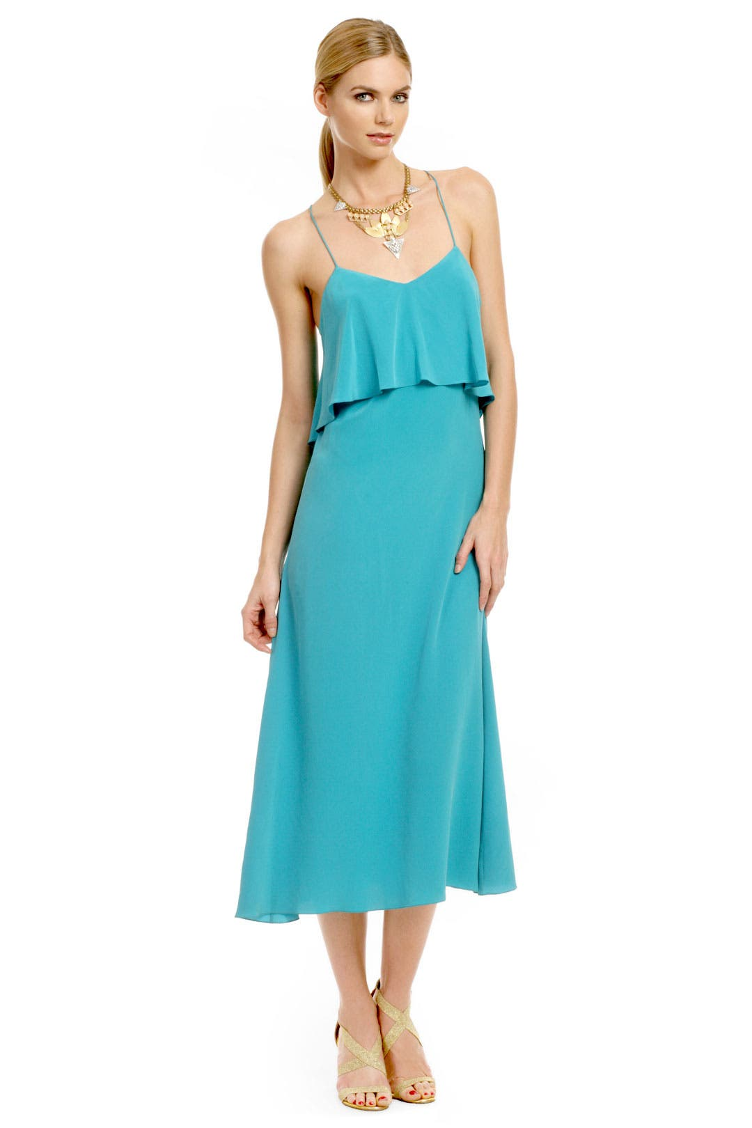 Teal Waters Cami Dress by Thakoon