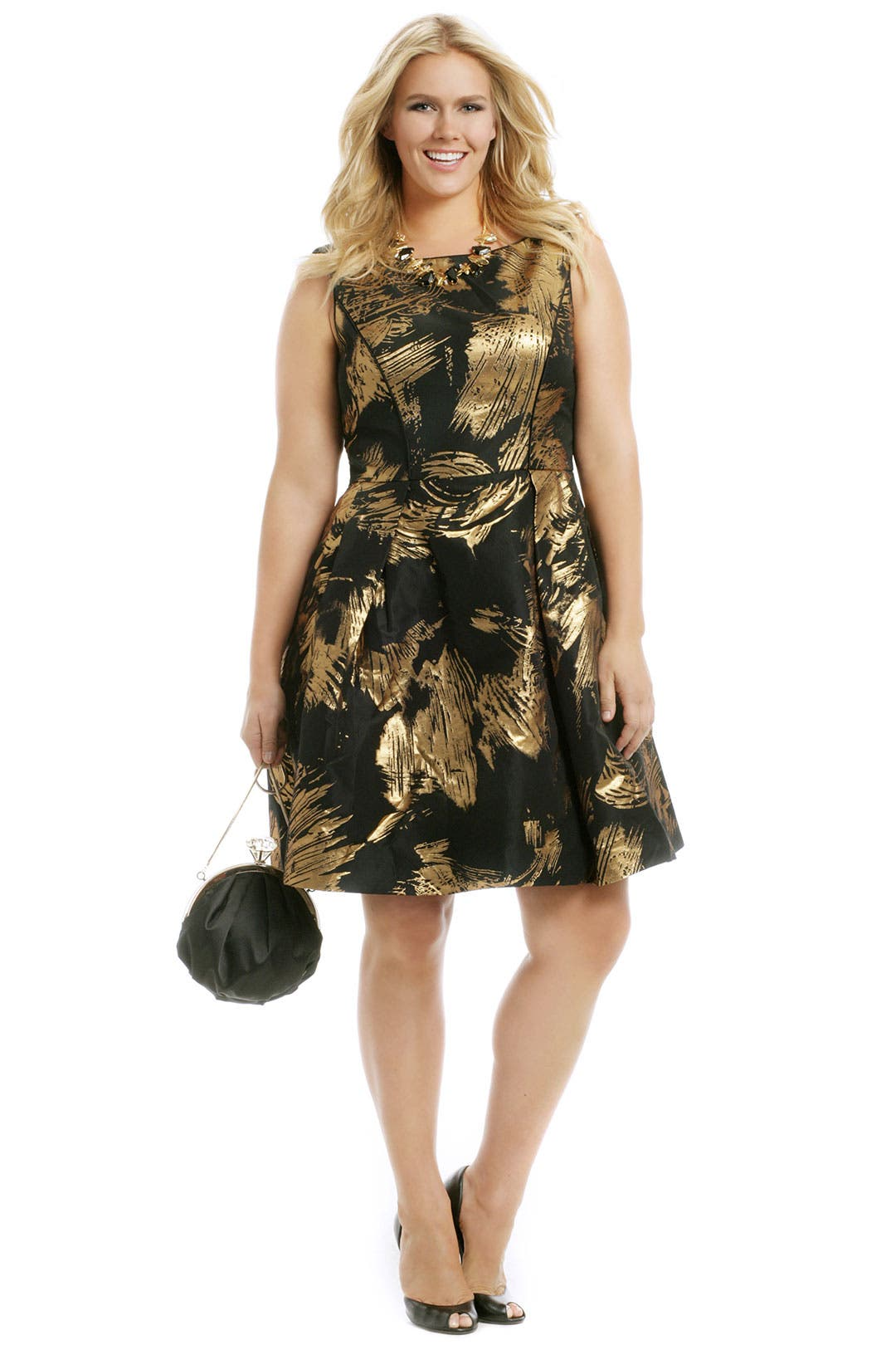 Gold Whirlwind Dress by Theia