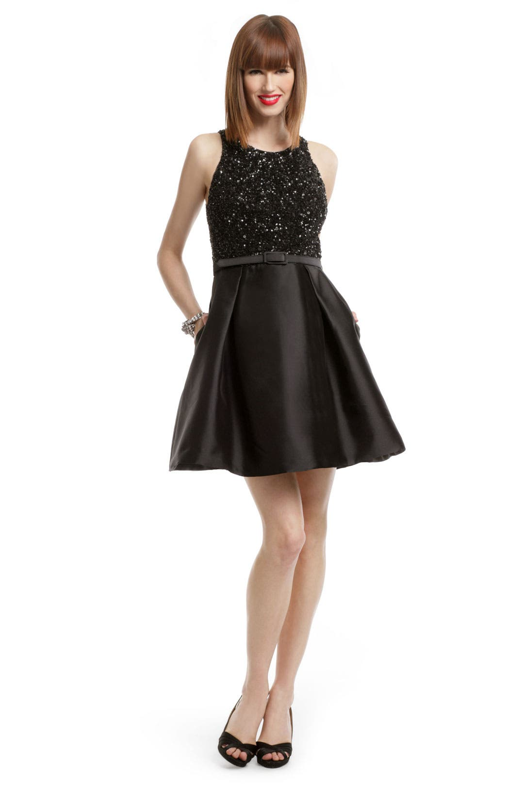 Old Hollywood Sequin Dress by Theia