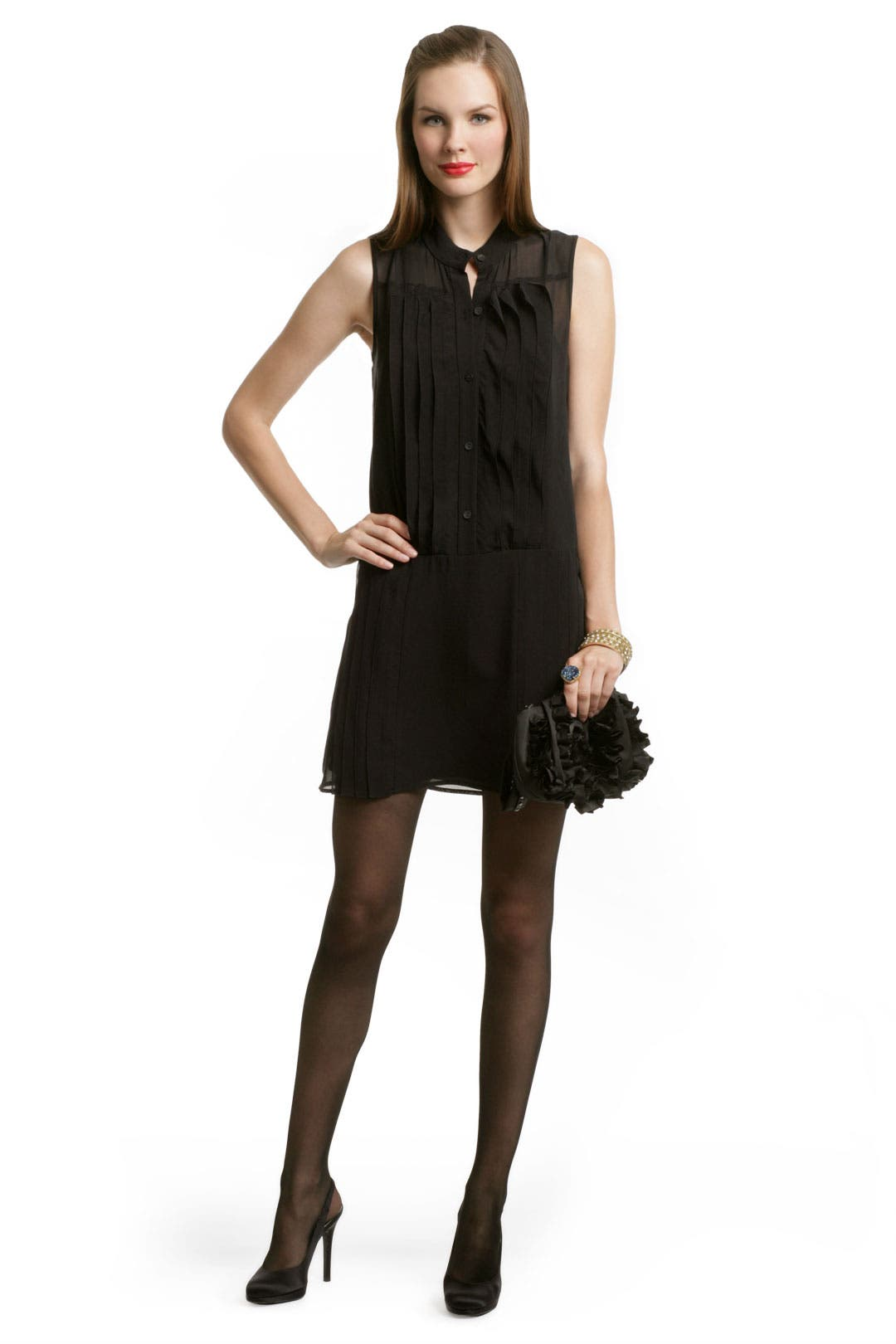 Button Front Tux Dress by theory