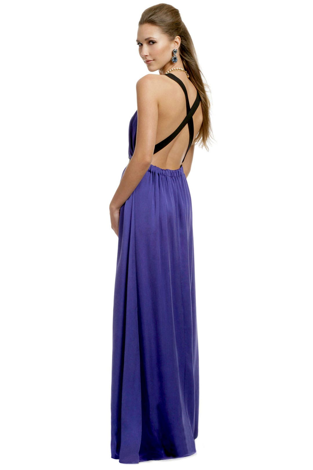 Runway Purple Bandit Gown by theory
