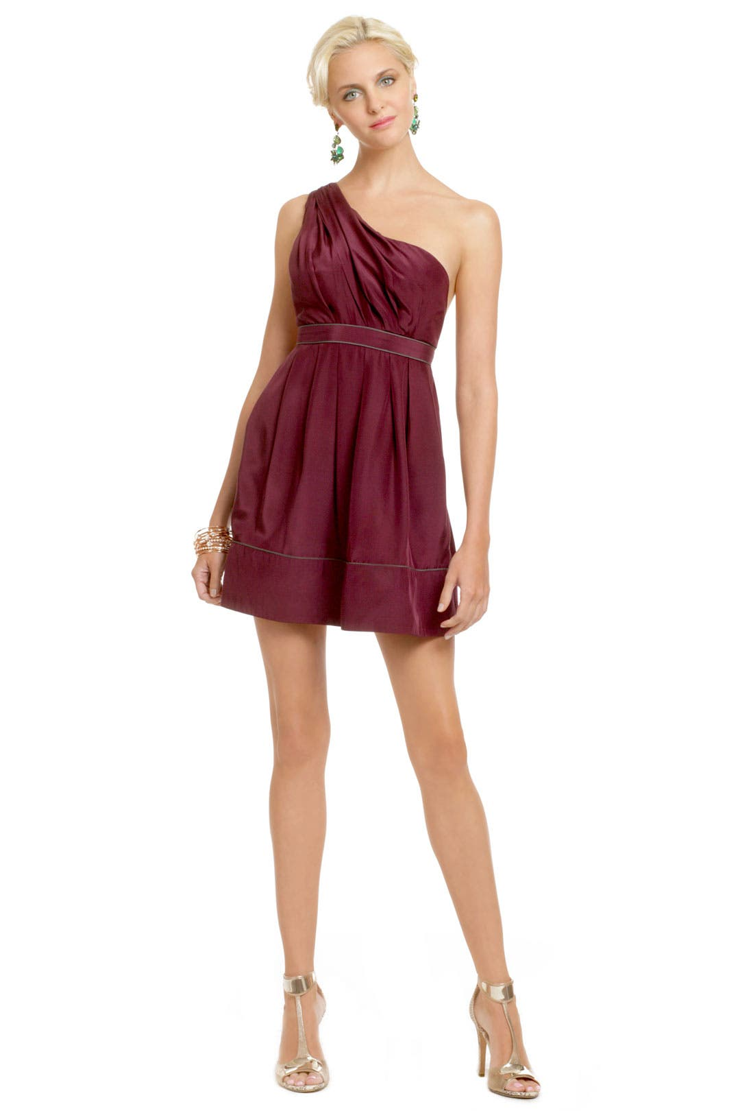 Burgundy Fairy Tale Dress by Thread Social