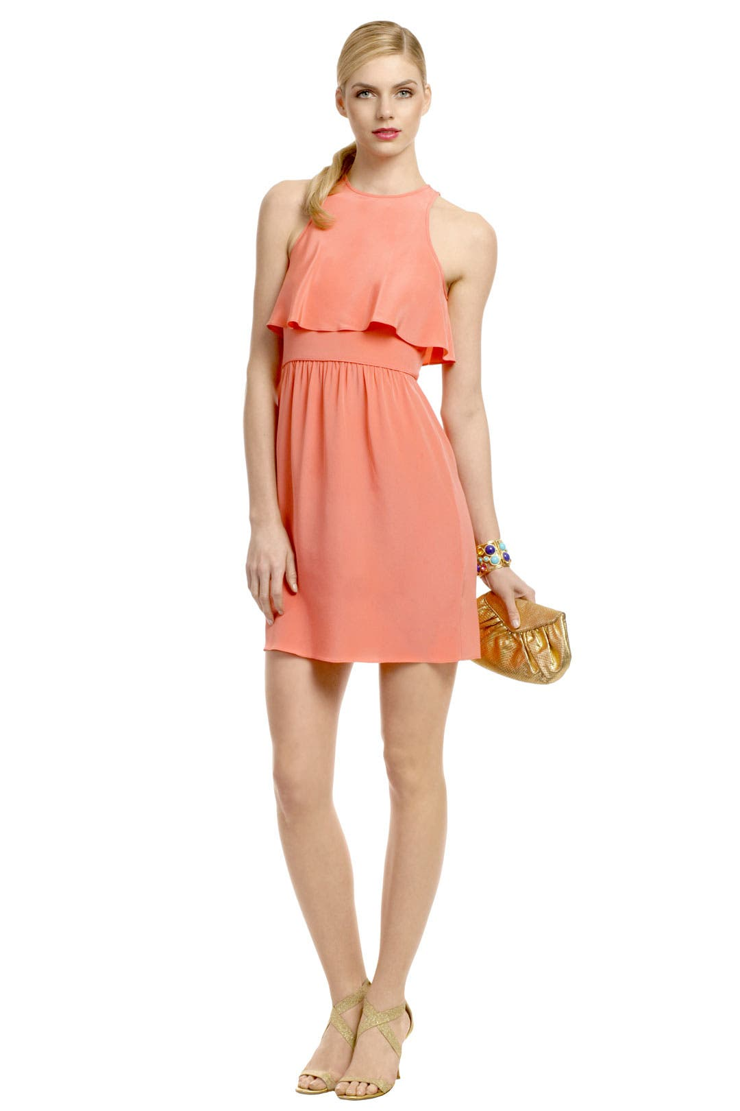 Coral Paradise Dress by Tibi