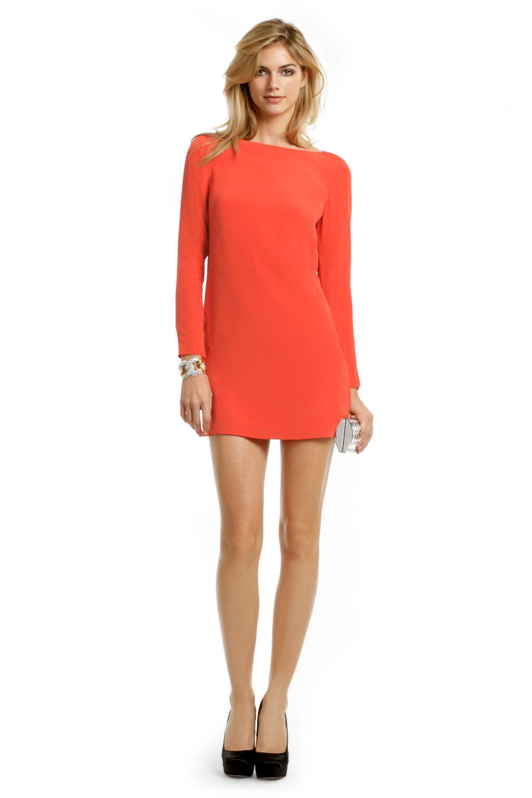 Orange Crush Sheath Dress by Tibi