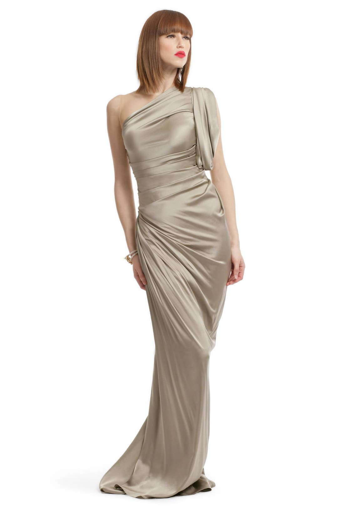 Stone Statue Draped Gown by Vera Wang