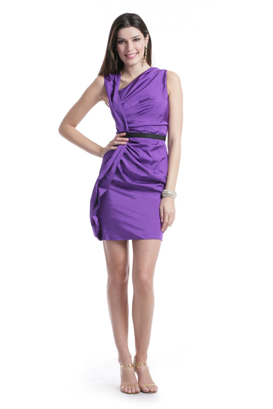 Vivid Violet Sheath Dress by Vera Wang