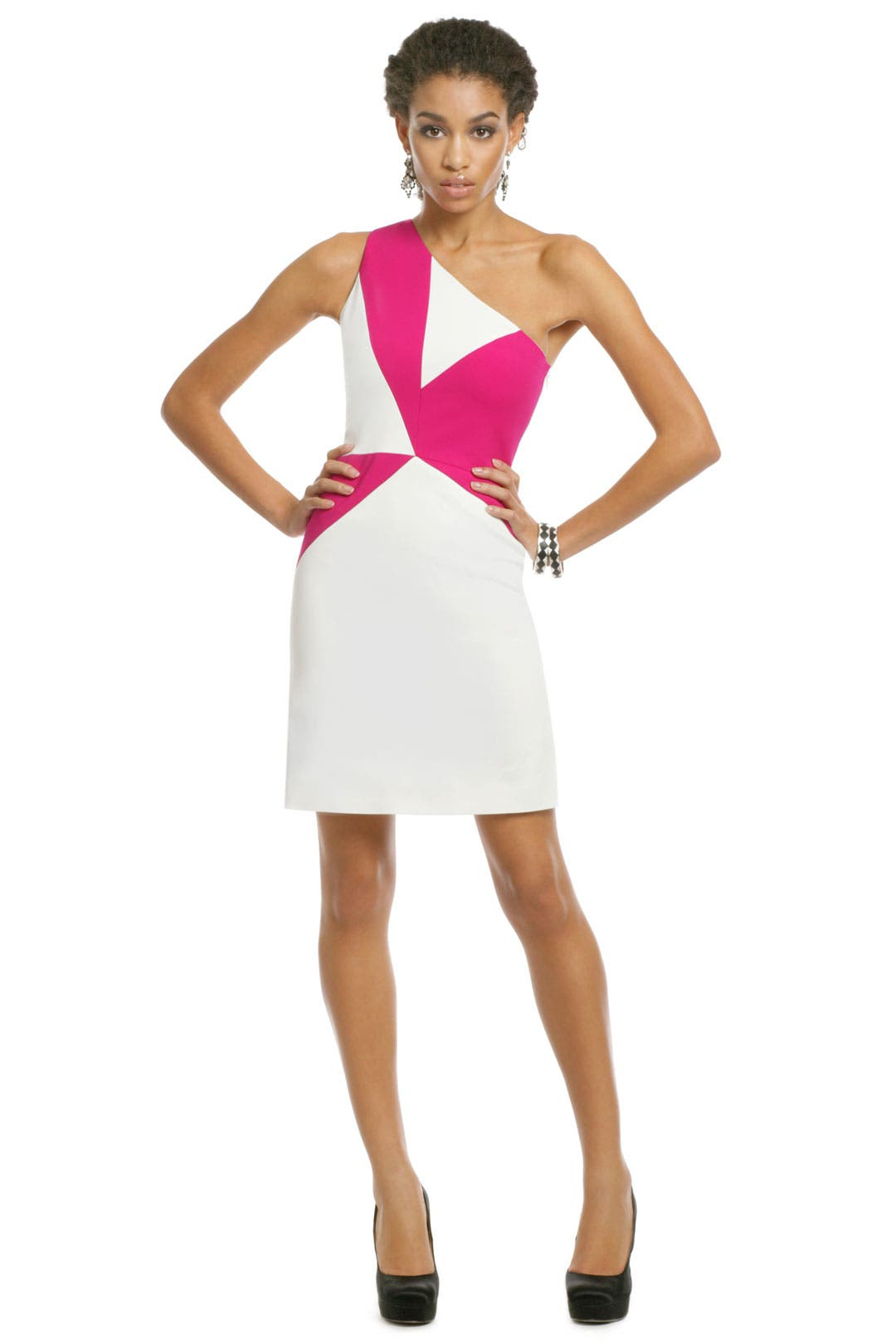 Pink Geo Pinwheel Dress by Versus by Versace