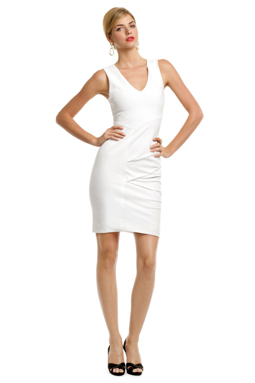 Saturn White Whirlwind Dress by Yigal Azrouël