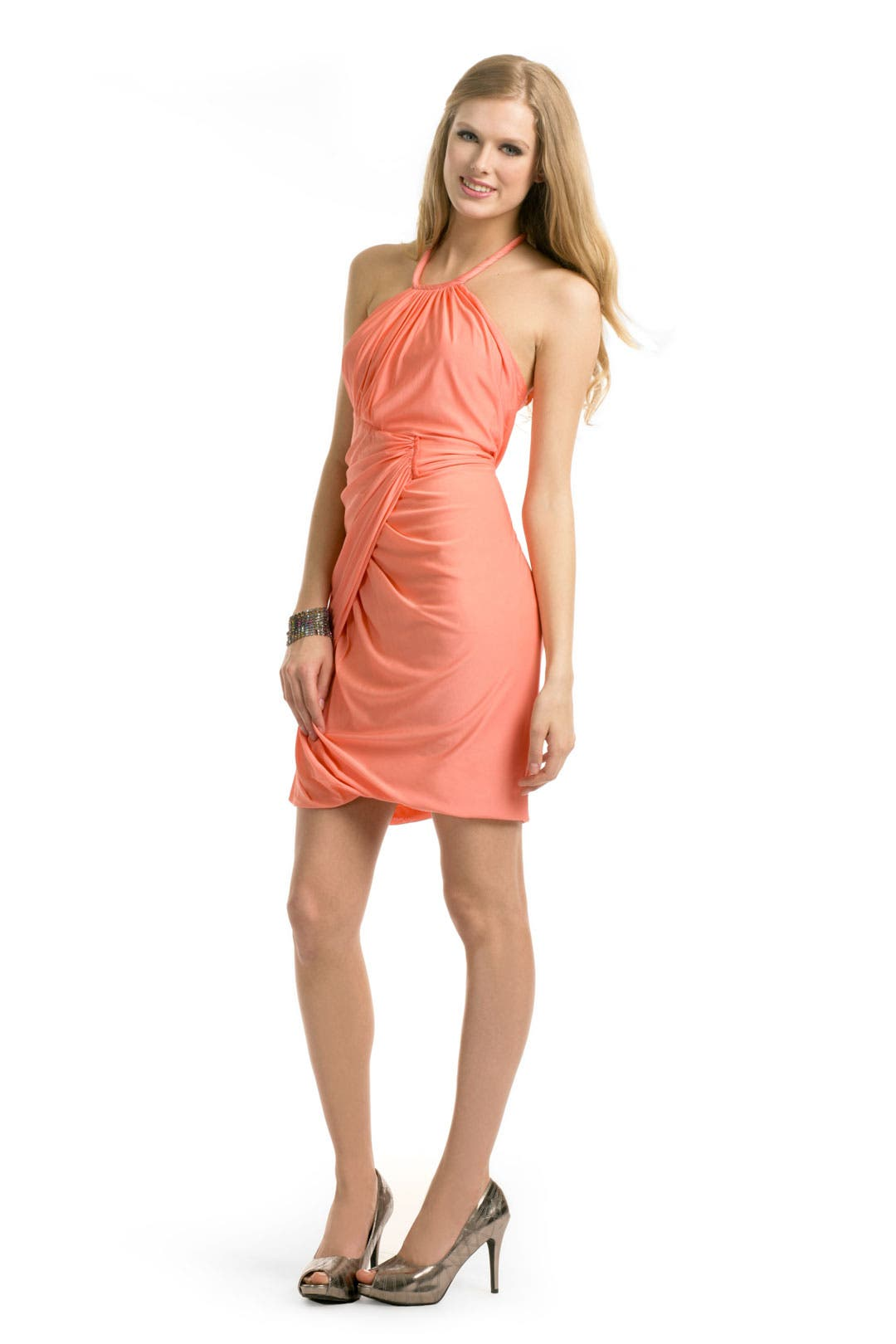 Melon Halter Dress by Yigal Azrouël