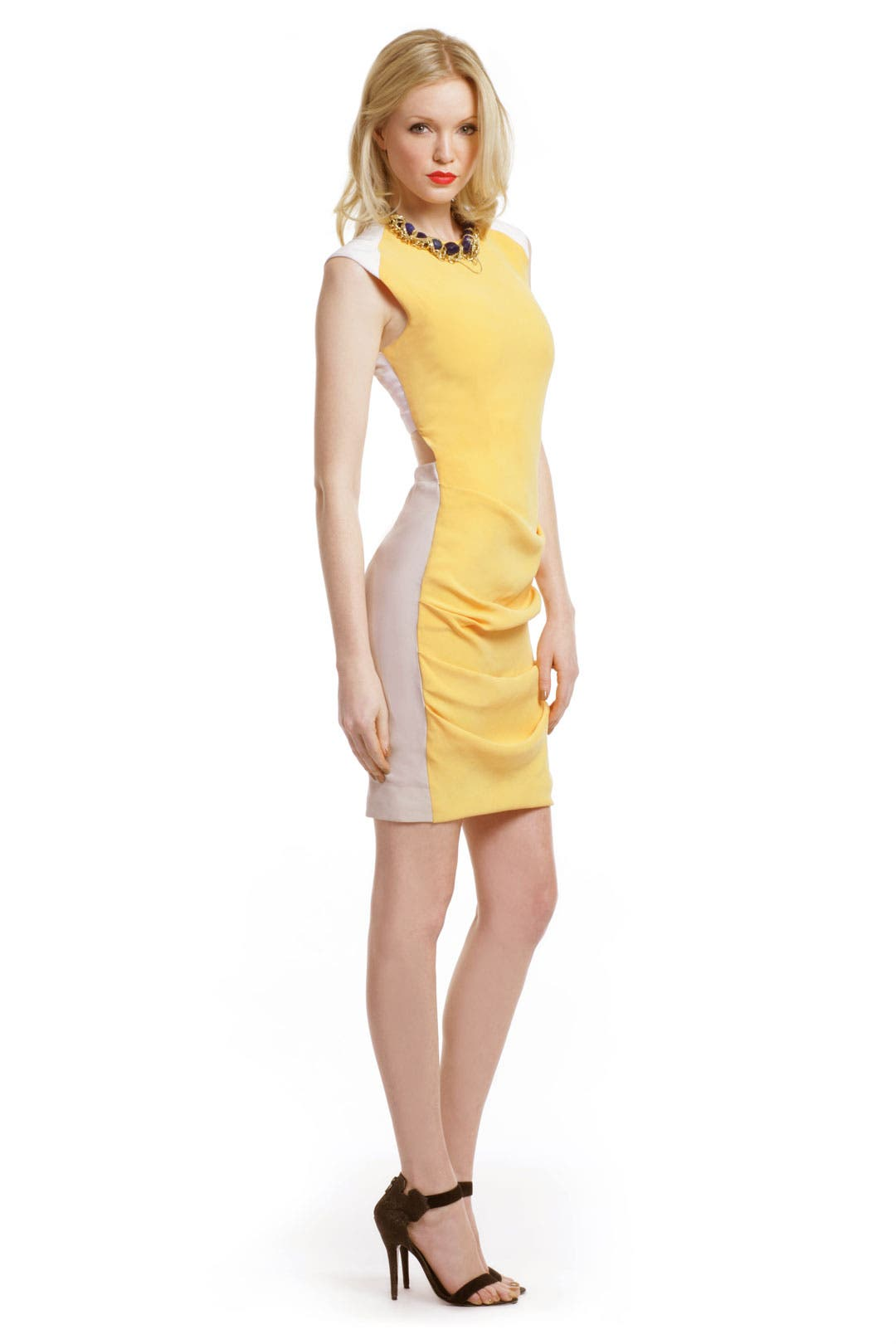 Optic Colorblock Dress by Yigal Azrouël