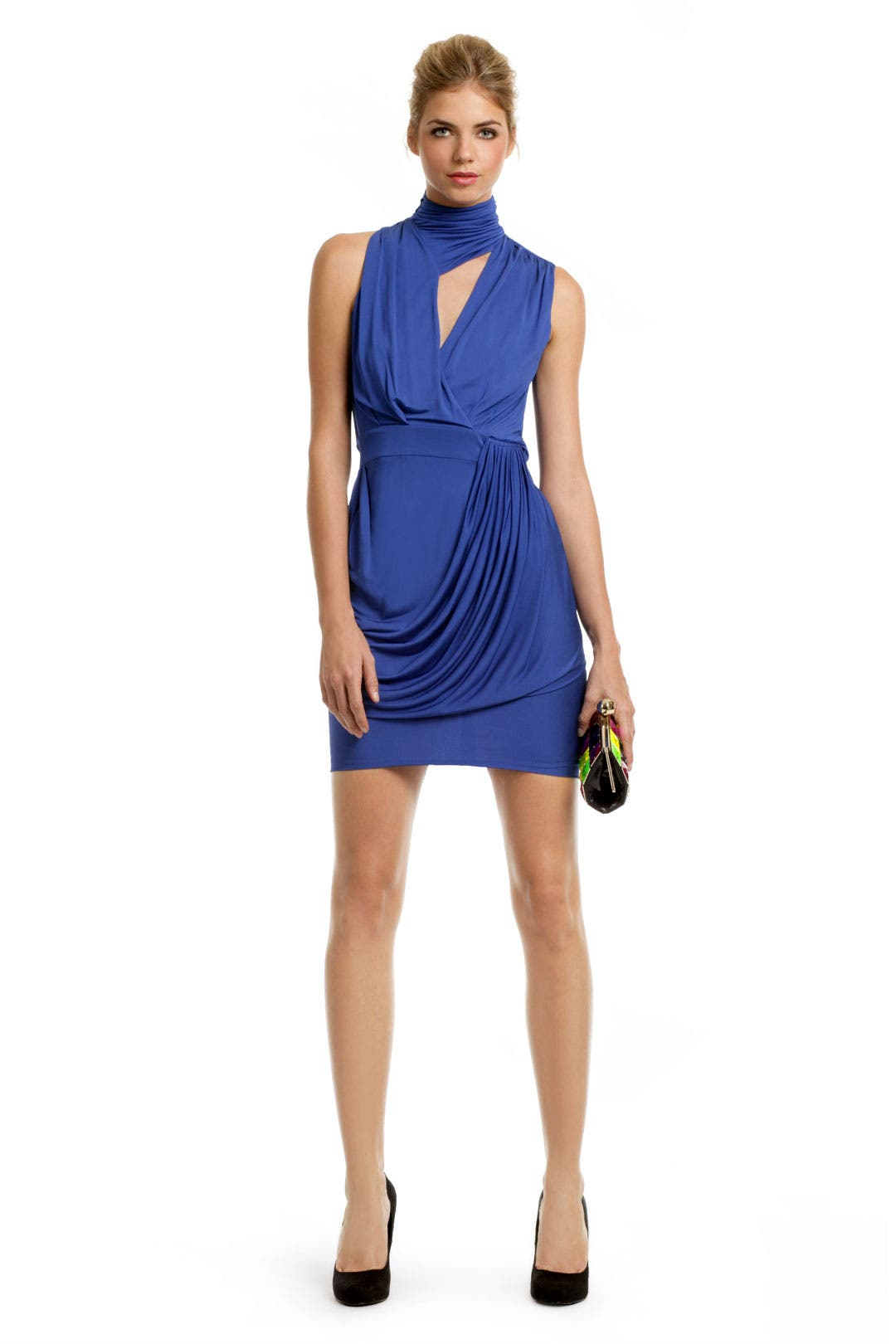 Royal Keyhole Draped Dress by Yigal Azrouël