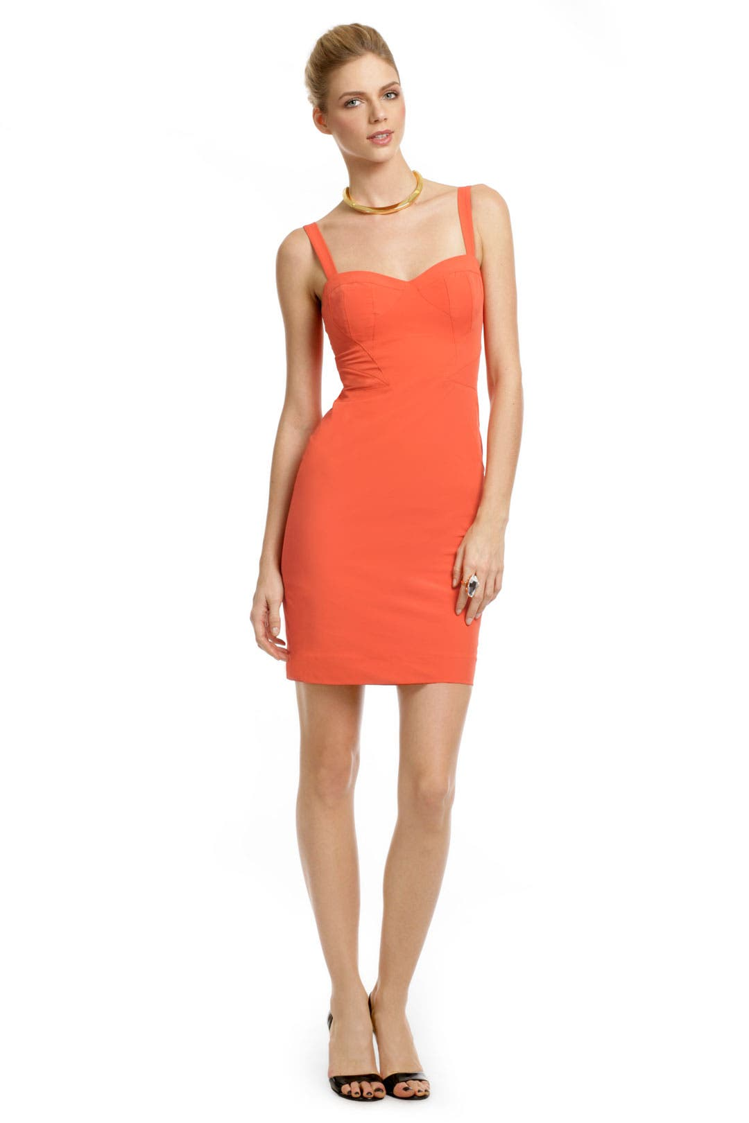 Mercury Orange Sheath by Z Spoke Zac Posen