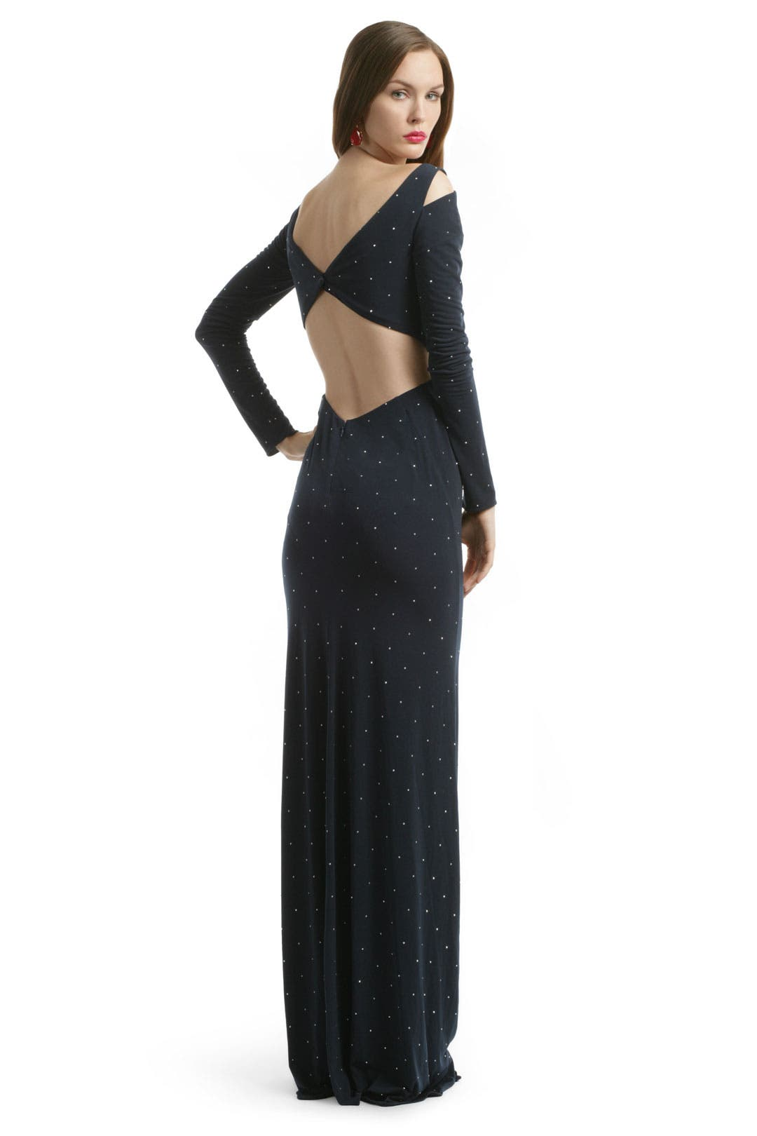 Studded Jersey Cutout Gown by Z Spoke Zac Posen