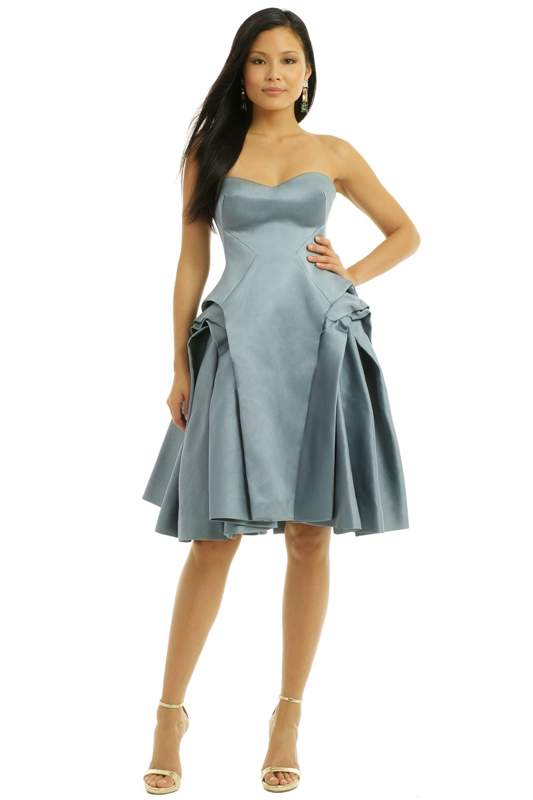 Smokey Flared Cocktail Dress by ZAC Zac Posen